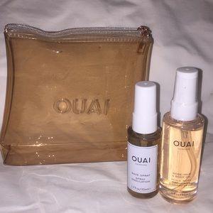 OUAI Haircare Set w/ Clear Bag